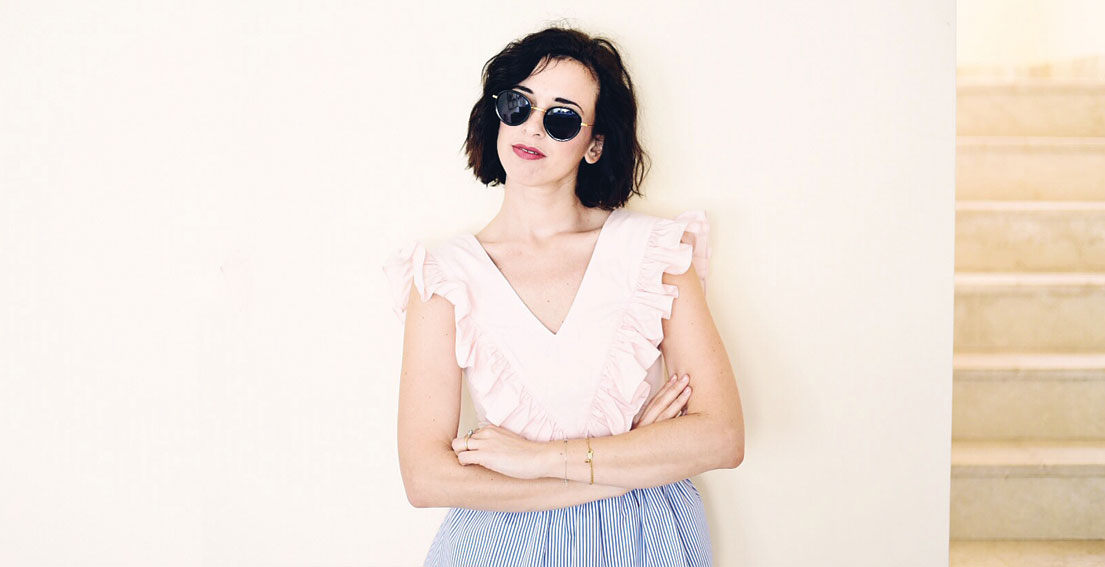 Bonjour Chiara Wears // Katr Dobrrkova rainbow skirt for summer