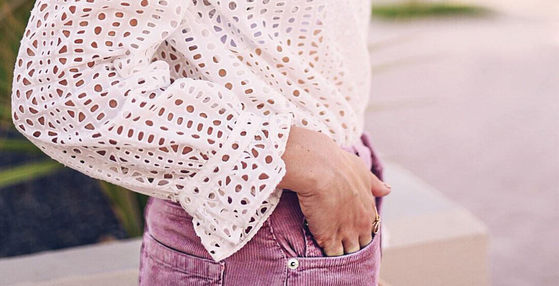 Current obsession: pink corduroy skirt - Bonjour Chiara